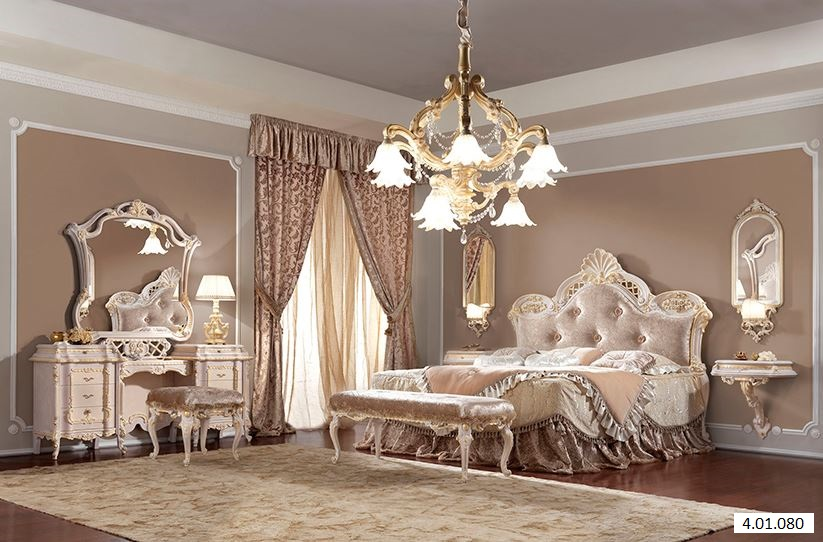 schlafzimmer barock dekoration. Black Bedroom Furniture Sets. Home Design Ideas